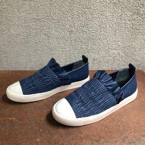 Mercedes Castillo Antionetta Navy Ruched Sneaker 8